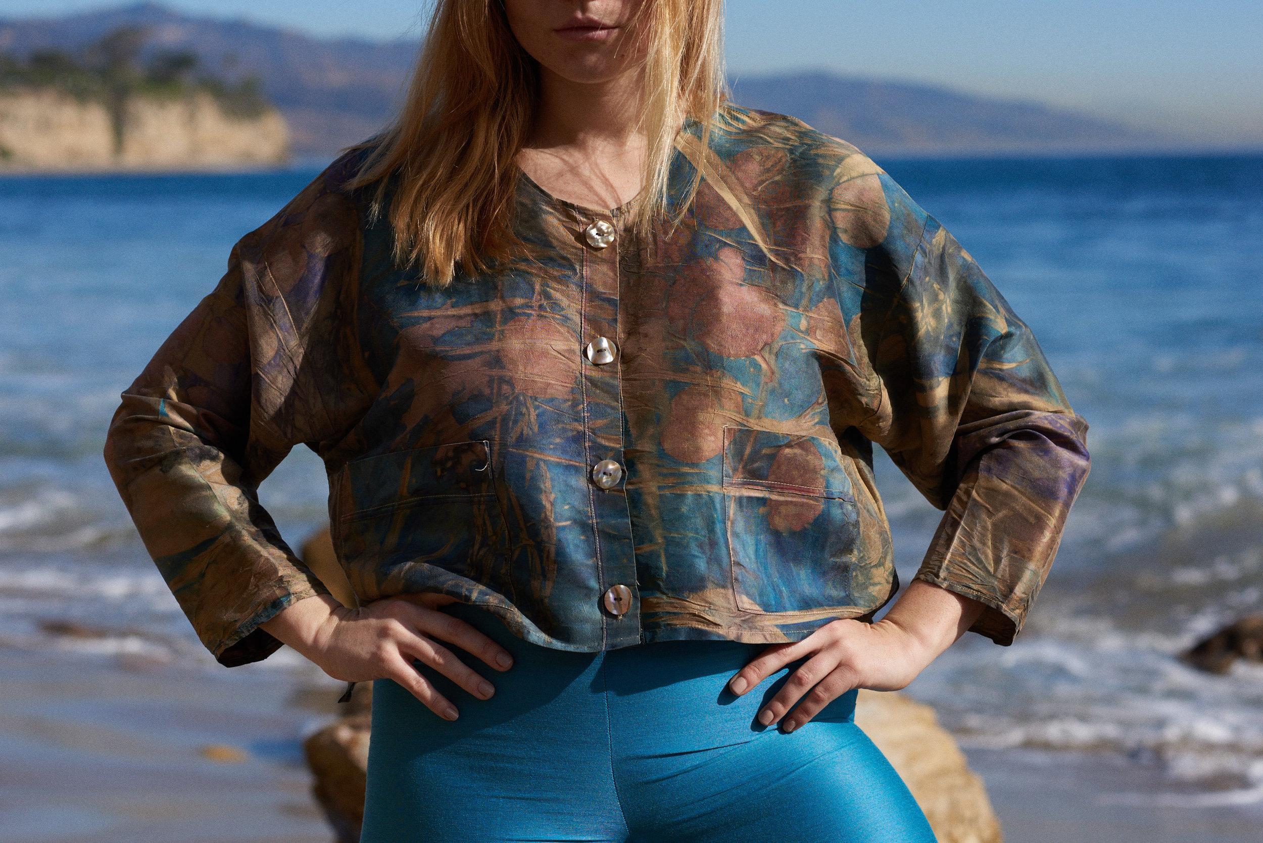 Eco Dye Silk Jacket Multi-Colored