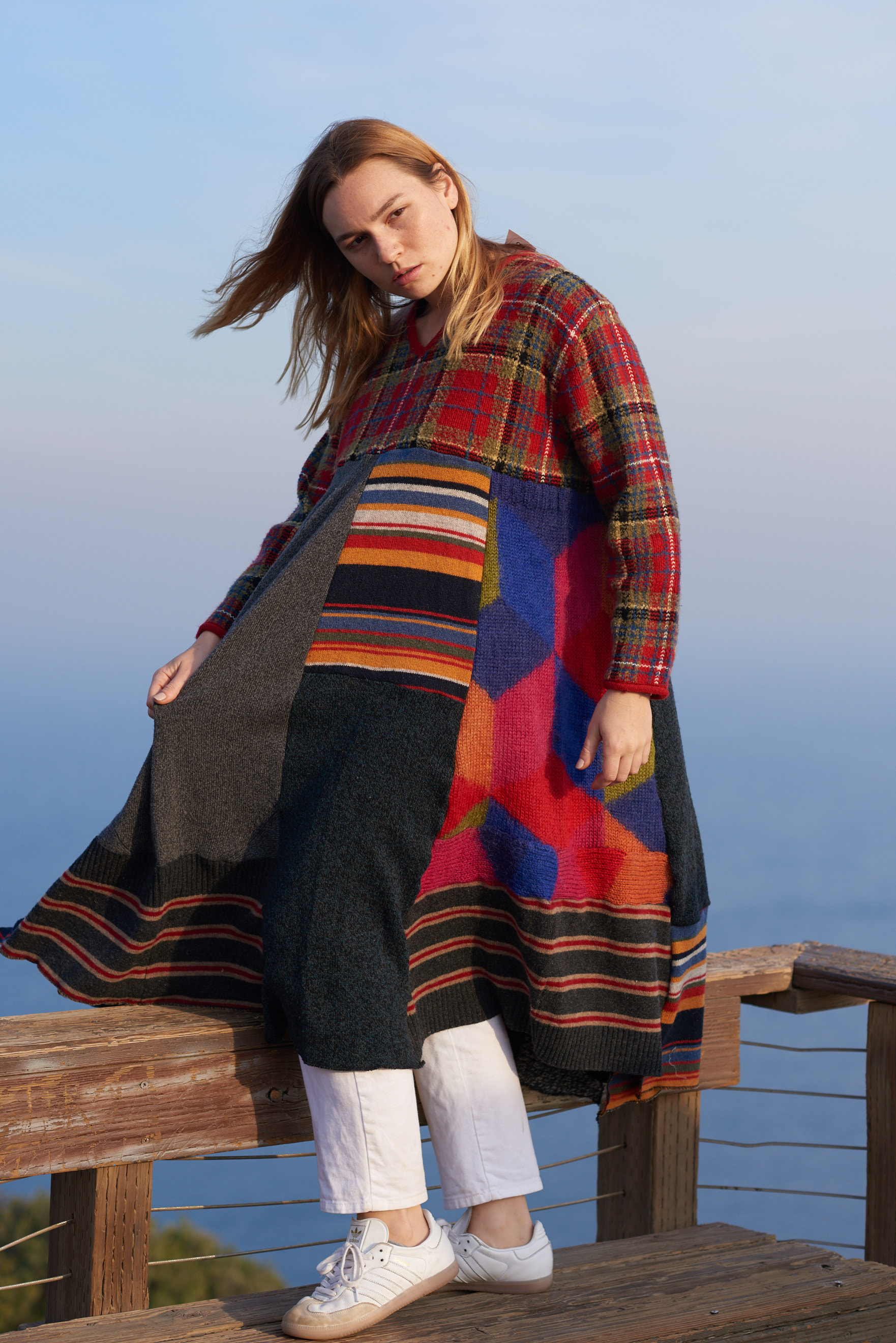 Re-Constructed Wool and Cashmere Knit Sweater Dress