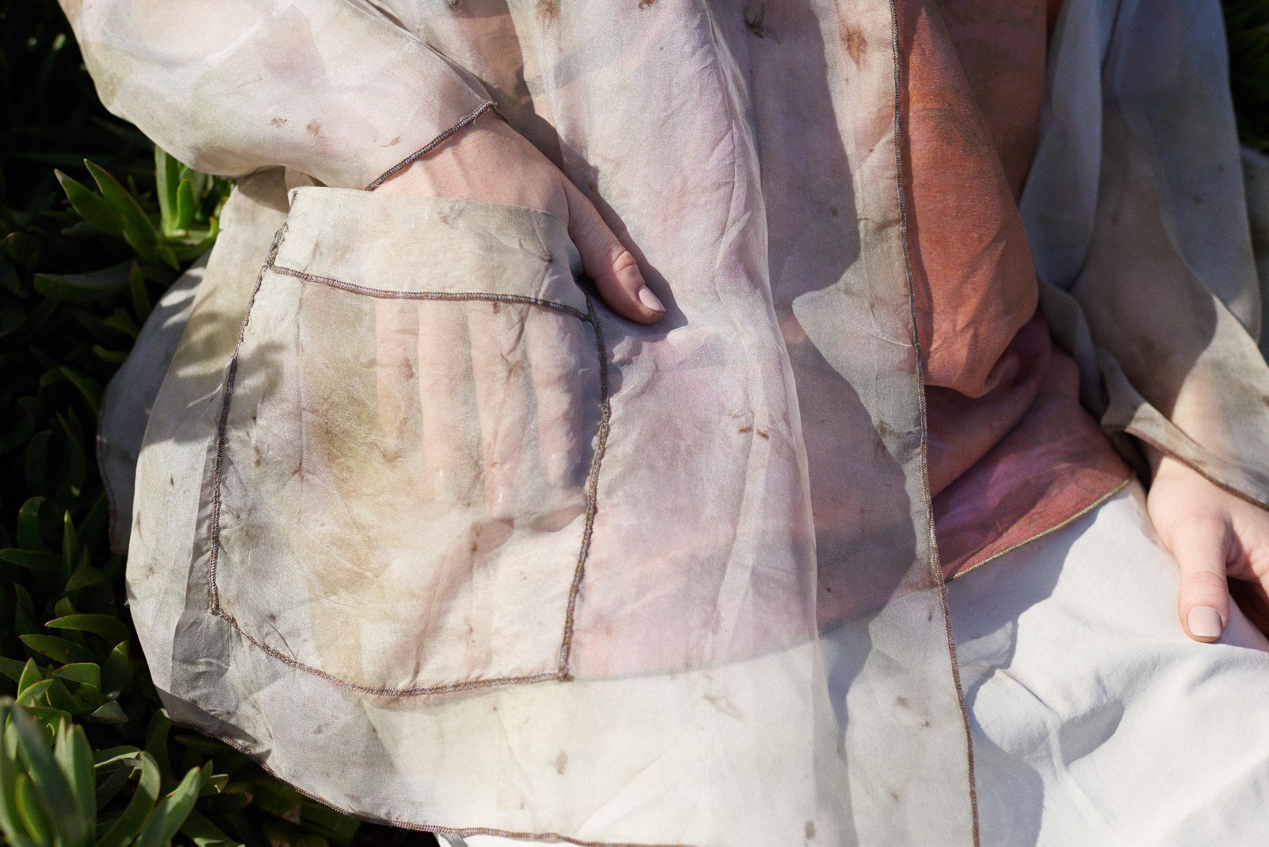Sheer Silk Organza Pastel Eco Dye