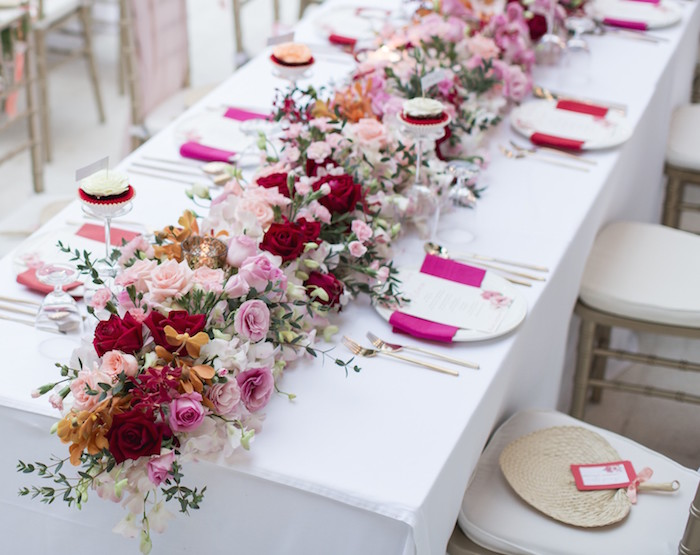 wedding long table with red and pink orchids.jpg