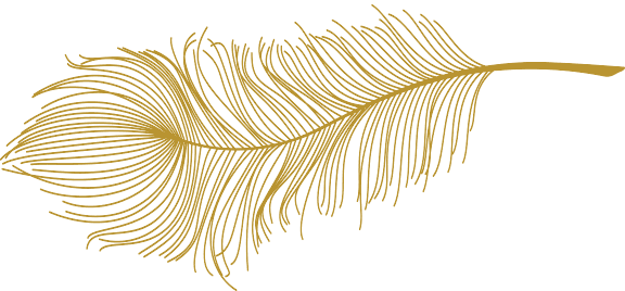 gold accents - feathers! soar! flourish!