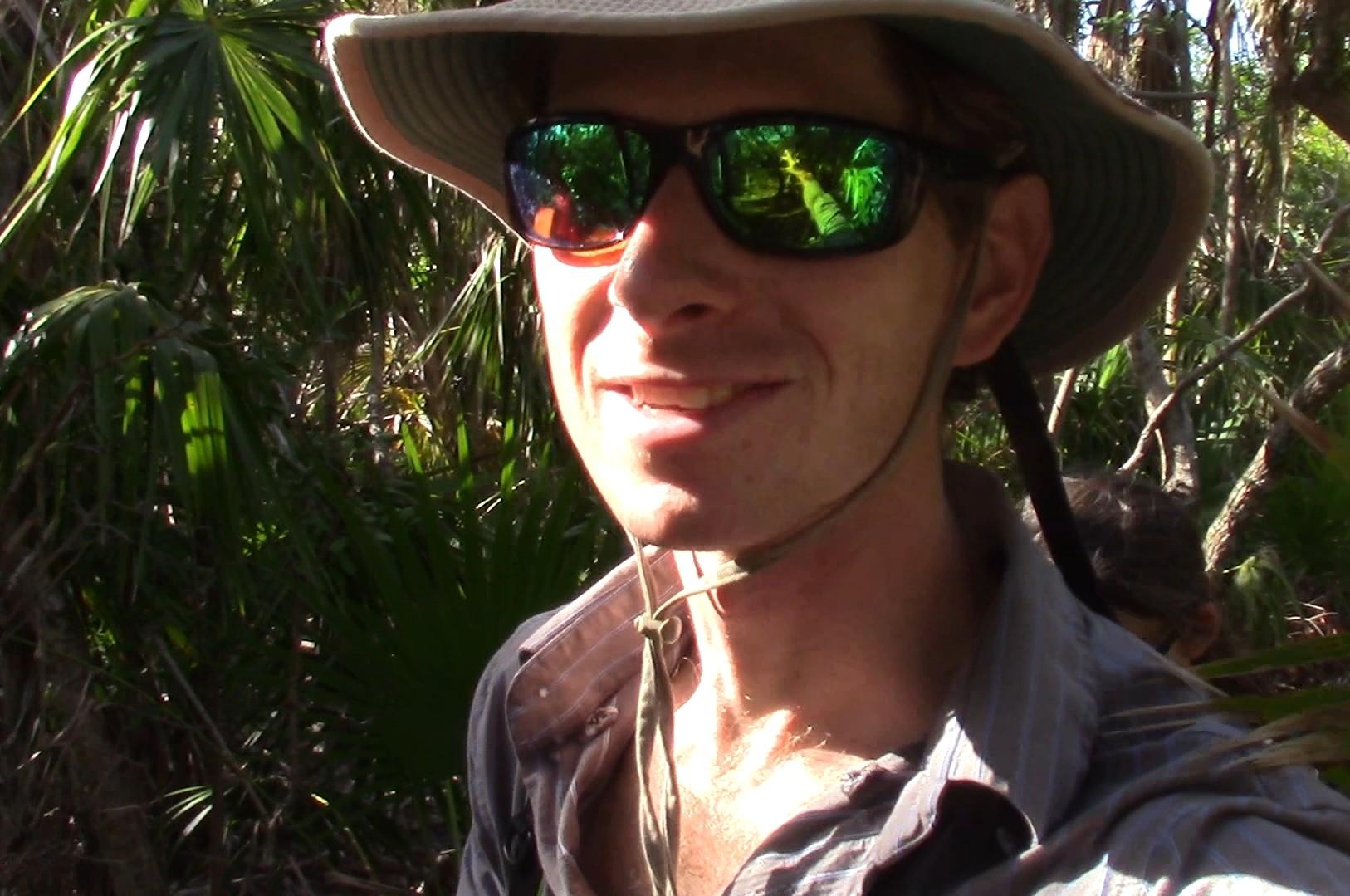 Matt on the trail.