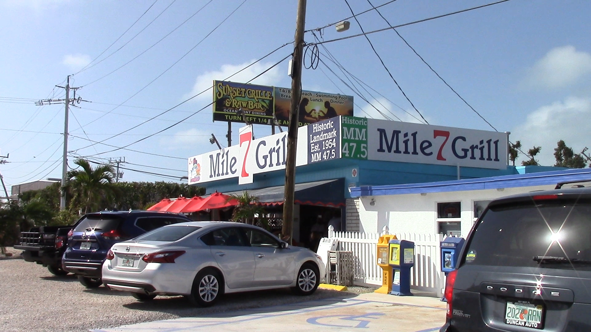 The famous Seven Mile Grill, with an amazing Mahi-Mahi sandwich.