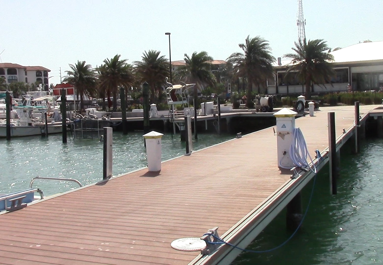 Faro Blanco Marina and their immaculate docks.