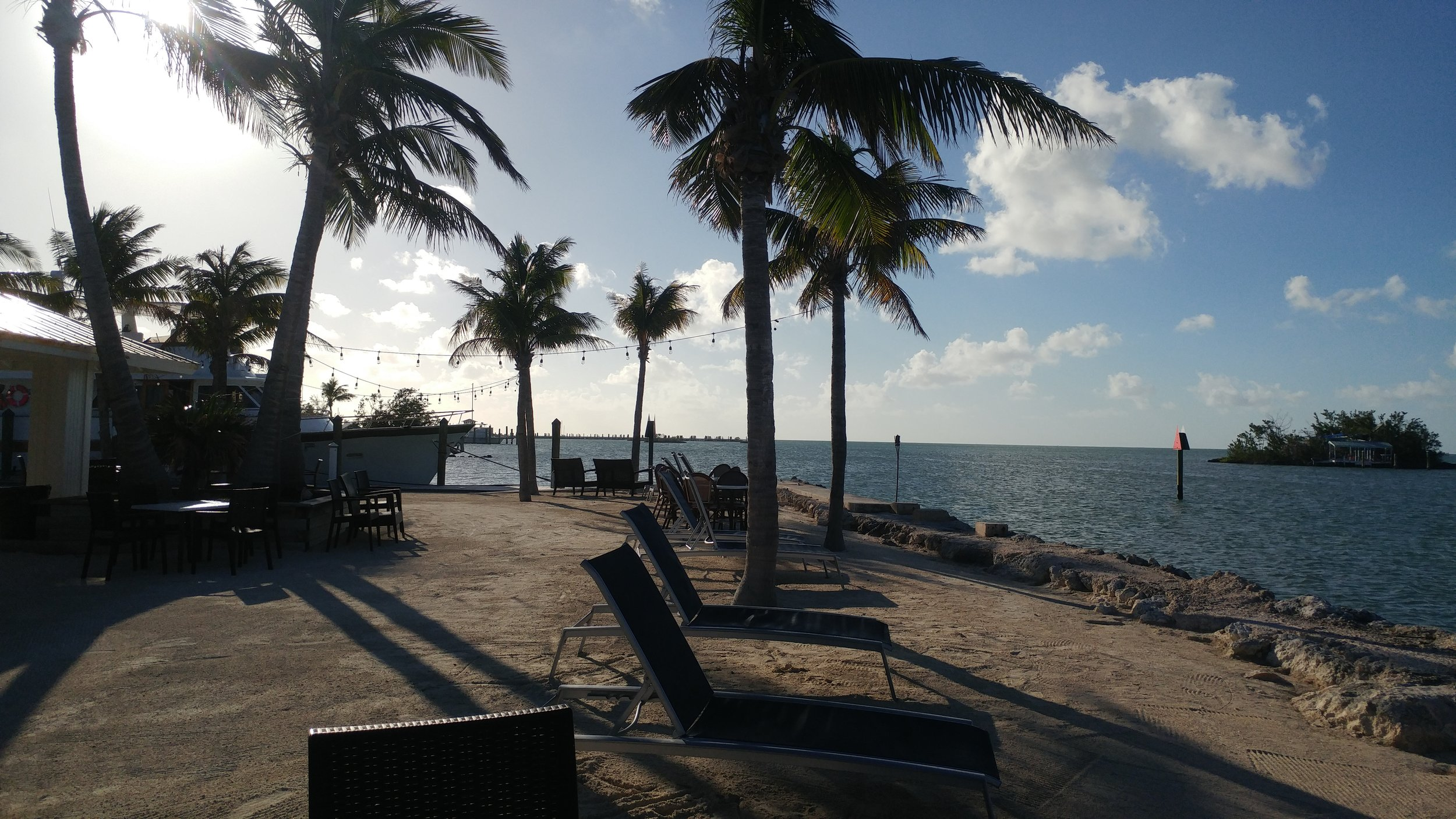 My work spot at Banana Bay Marina and Resort.