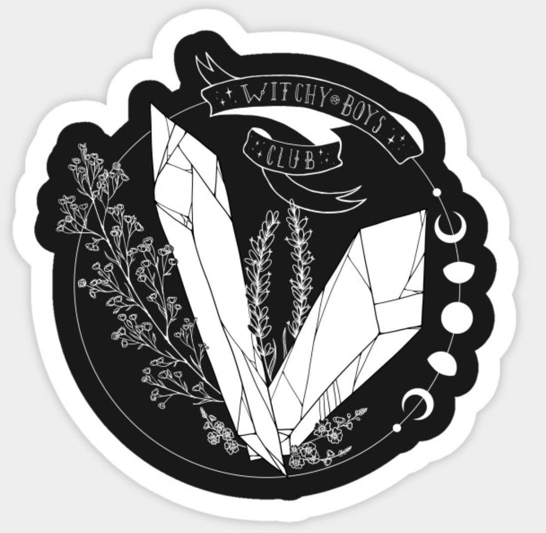 Witchy Boys Club Sticker by Goatsan (Leo)