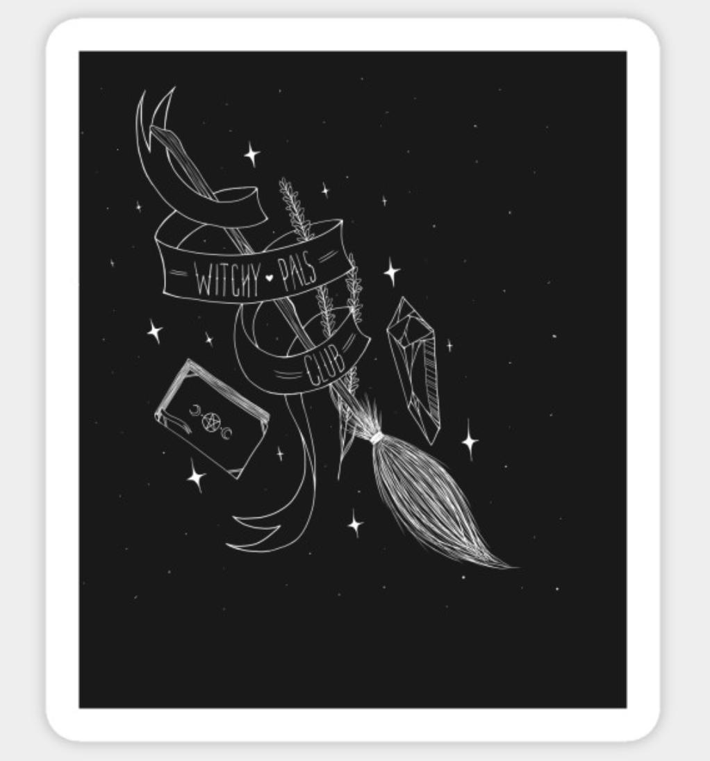 Witchy Pals Club Sticker by Goatsan (Leo)