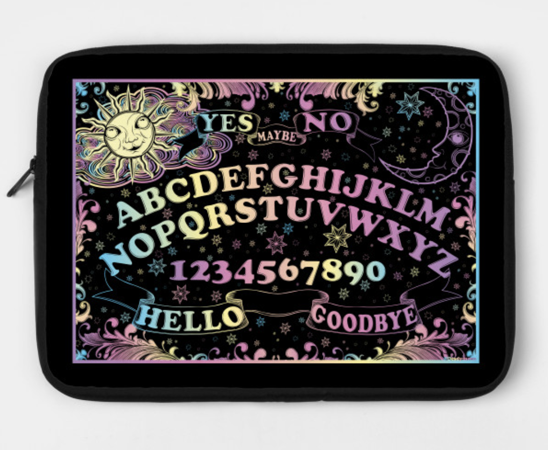 Rainbow Spirit Board Laptop Case by Desdymona
