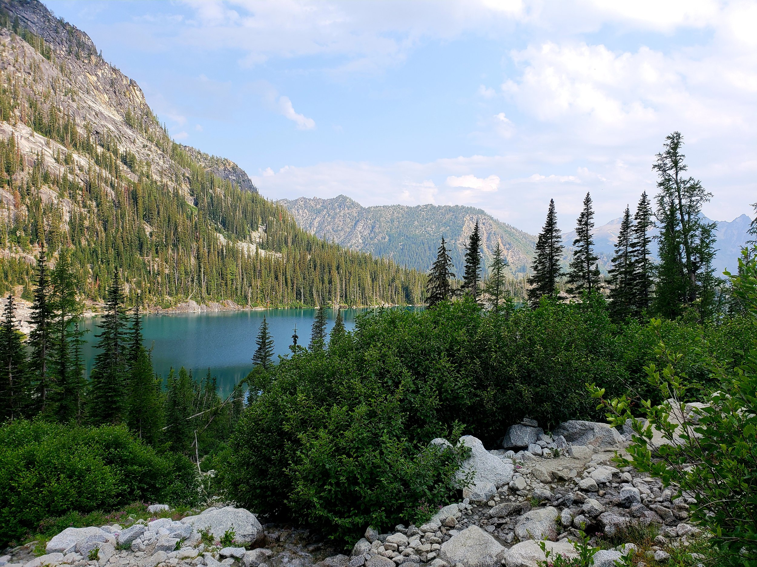 Copy of Colchuck Lake from the trail to Aasgard Pass