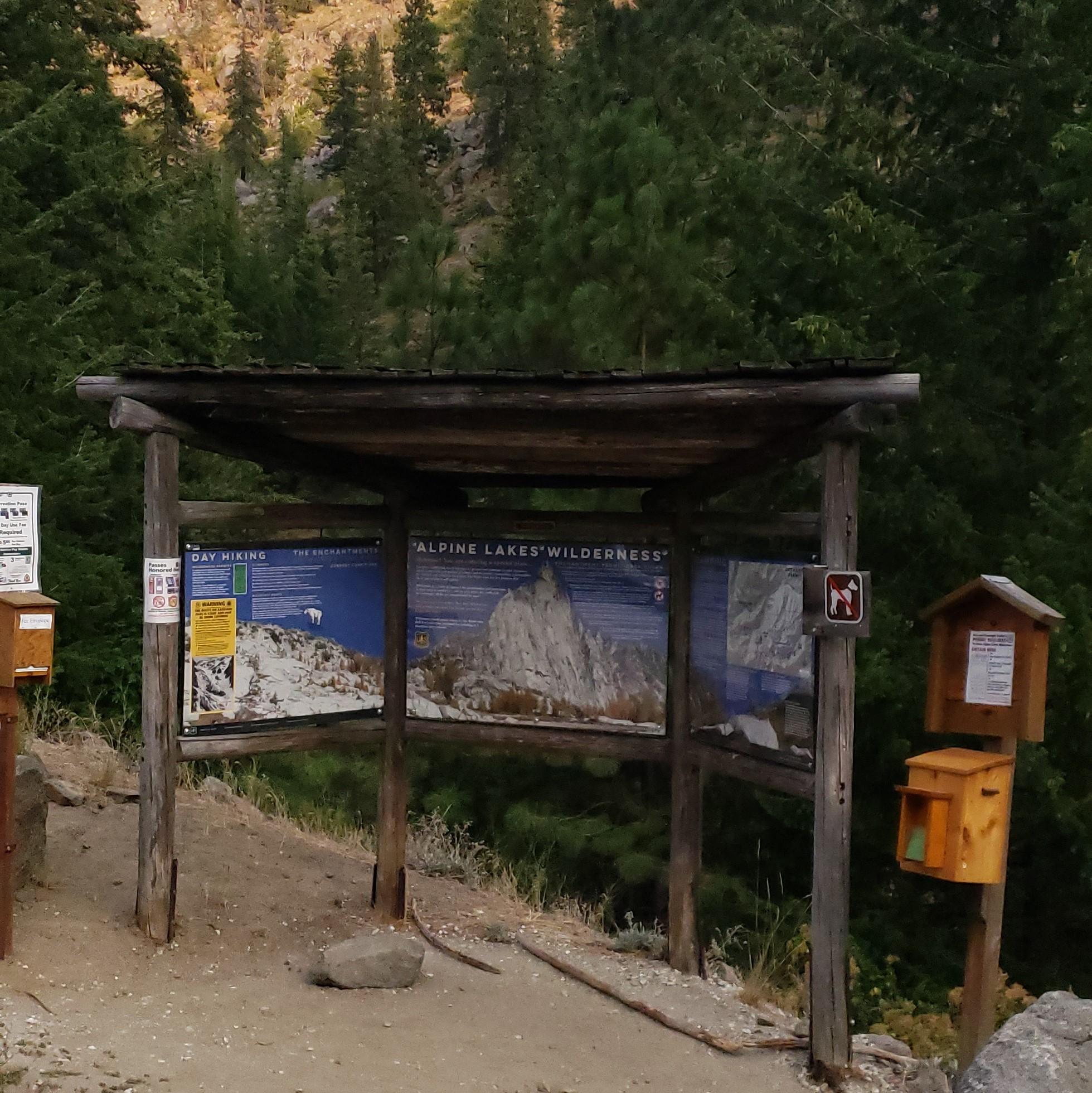 Snow Lake Trailhead - we made it!