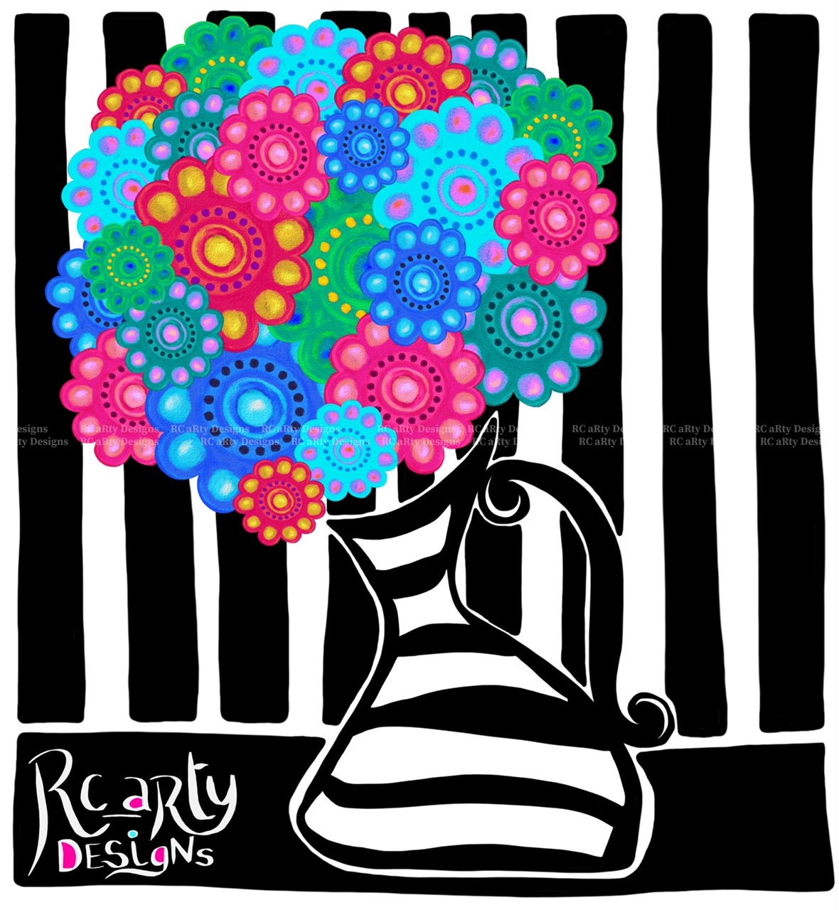 Floral Boom in Black n White Striped Vase Gallery Pics.jpg