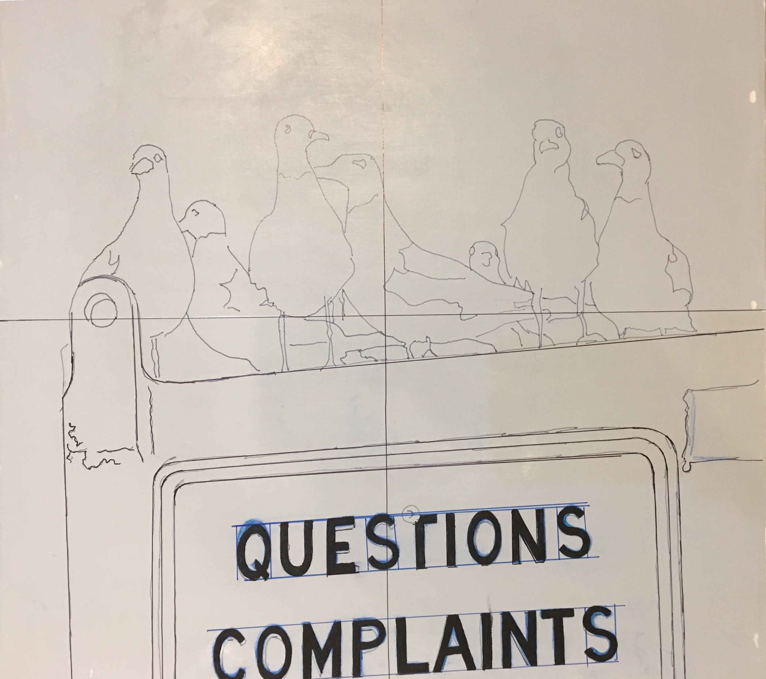 Complaint Department: - Session 1: Transferred my sketch to the canvas