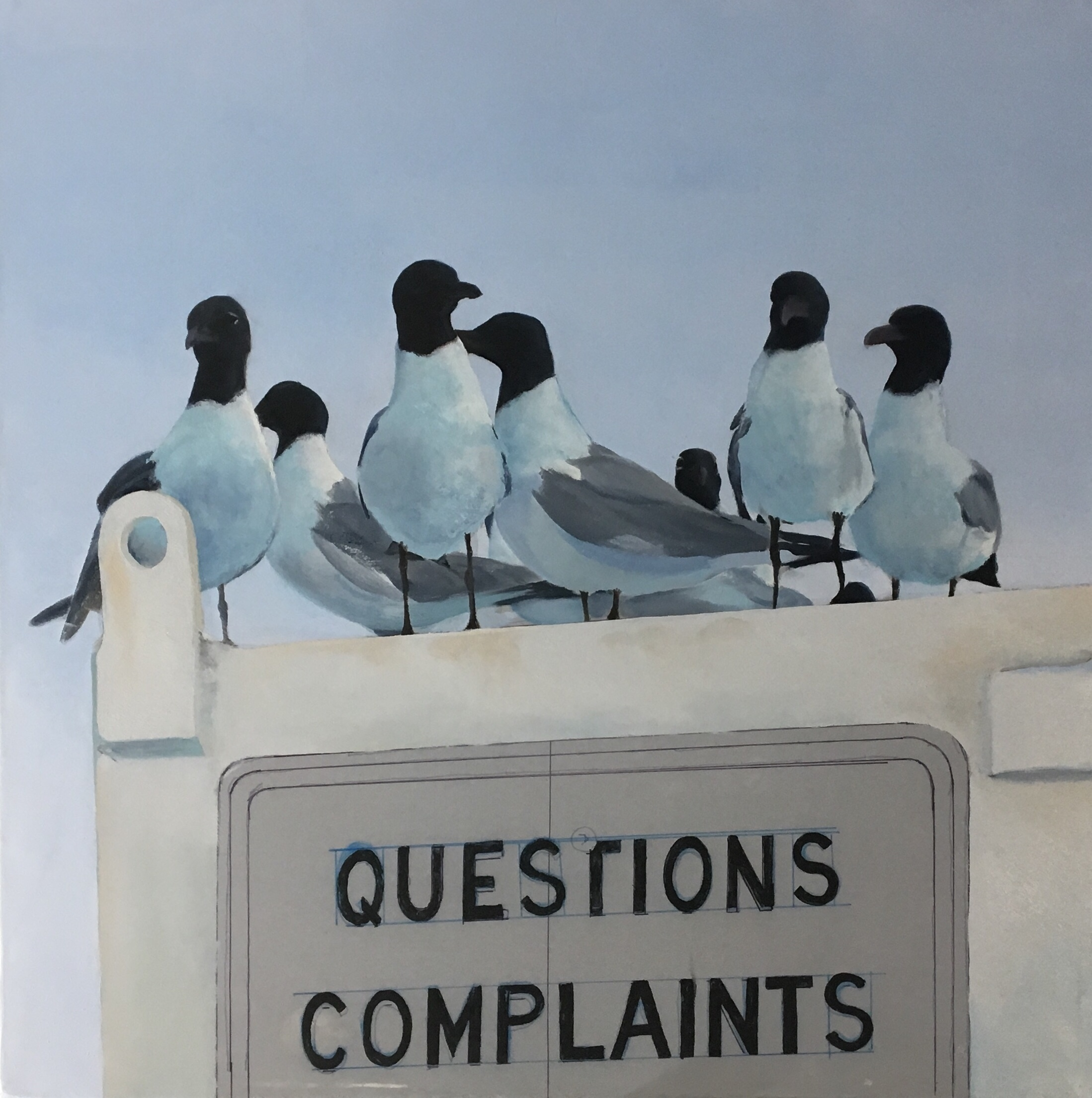 Complaint Department: - Session 10: Began blocking in color in the metal box