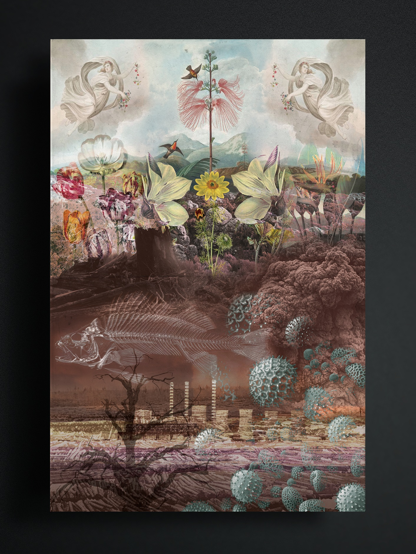Changes of Scenery - Changes of Scenery is a book that explores four worldviews of the natural world: nature is connected, nature is benign & perverse, nature is capricious, and the romanticization of nature. The book represents each perception both logically and expressively by using diagrams and landscape collages.