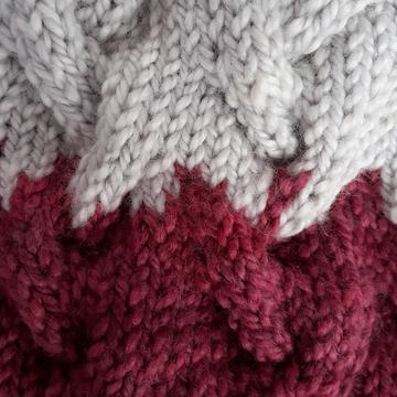 Maroon and gray Smoky Mountain knit texture