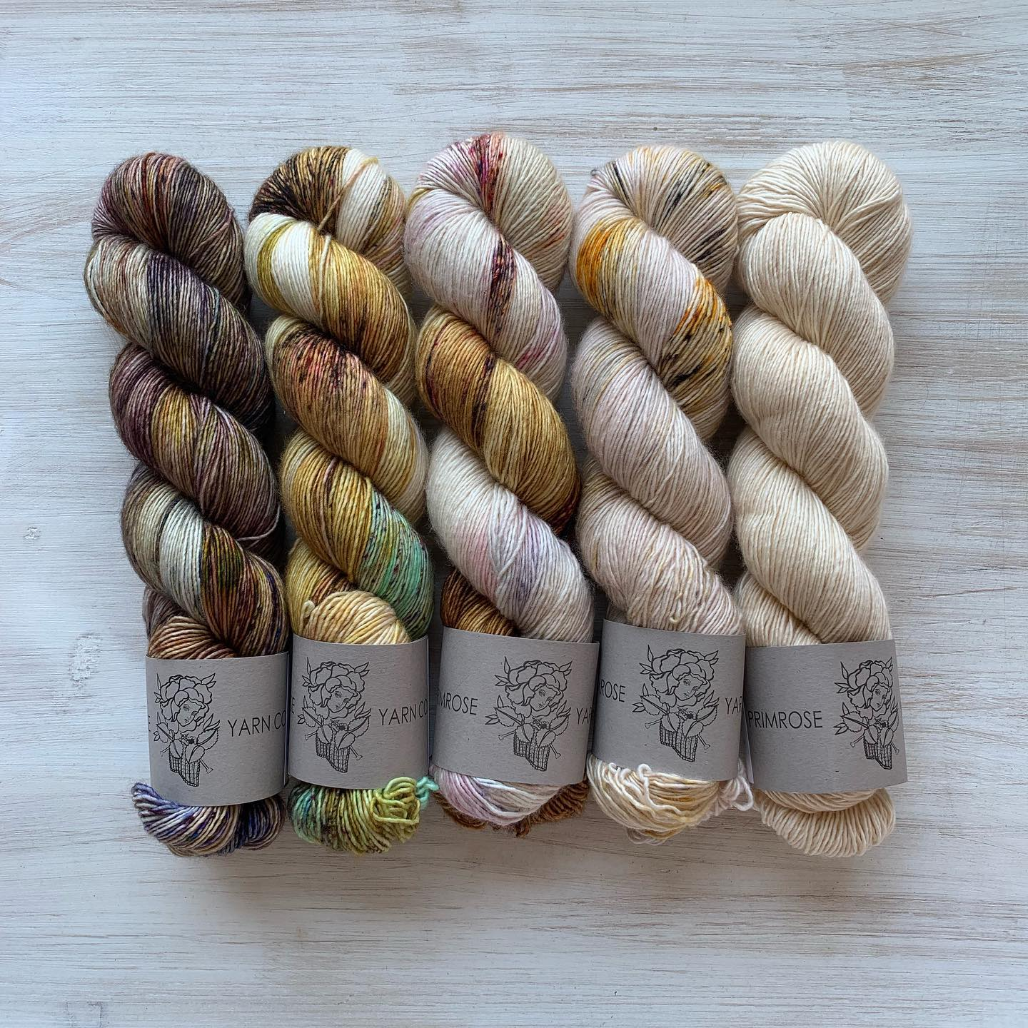 Neutral Colorways from Primrose Yarn Co