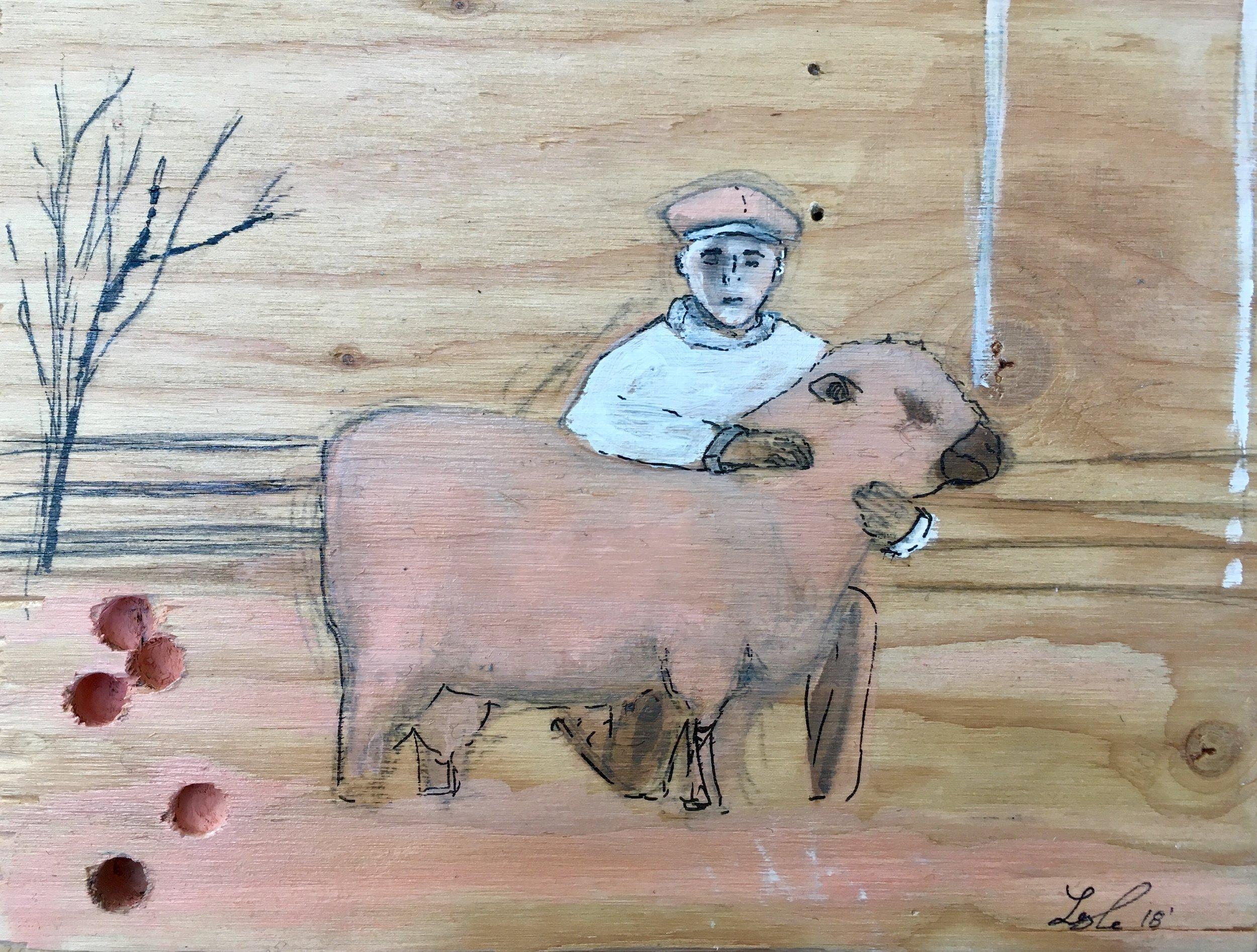 Boy With Sheep