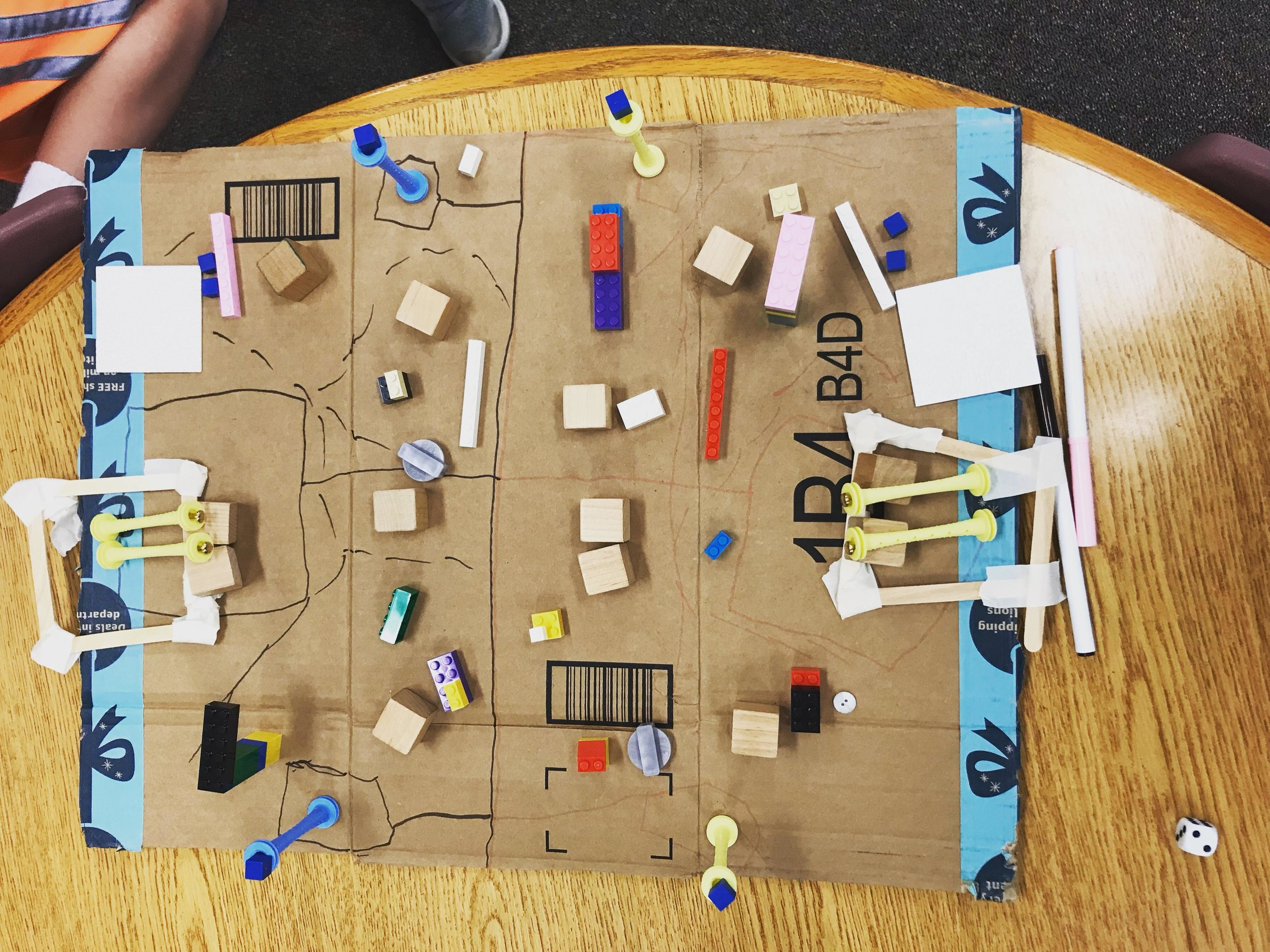 D's game board.
