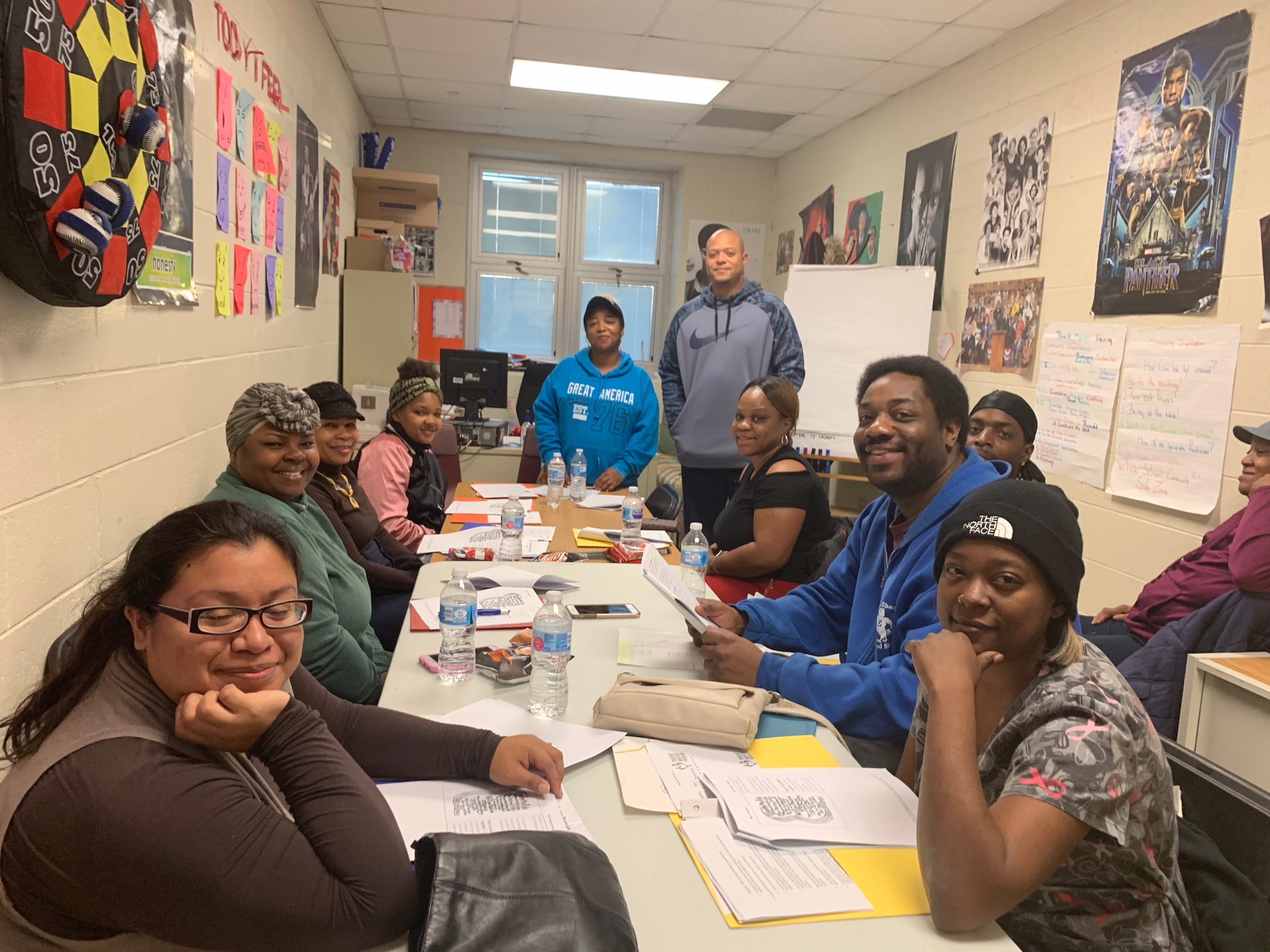 Parent mentors join together to learn new skills that will be used inside and outside the classroom.