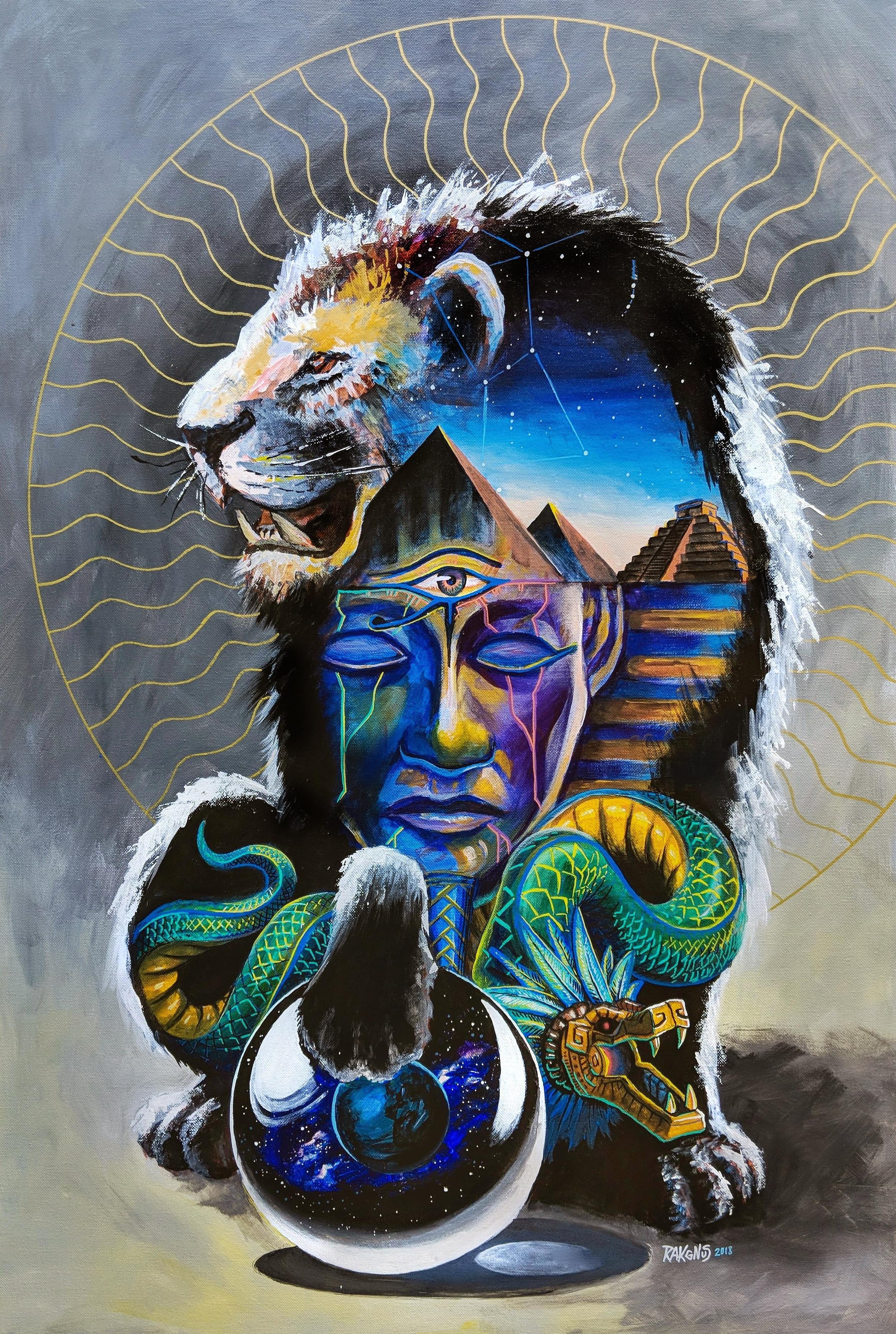"Lion's Gate, Acrylic on canvas 36"" x 24""   ORIGINAL   SOLD"