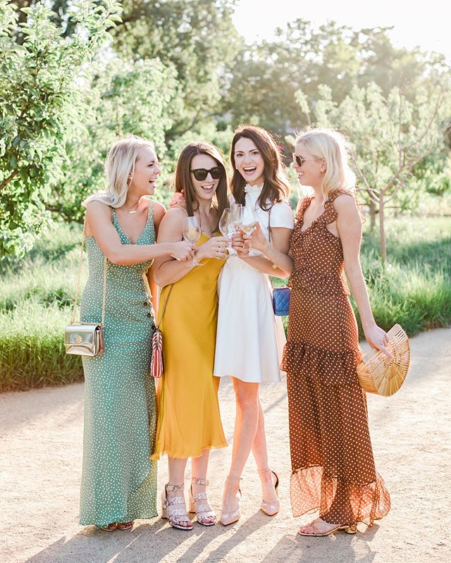 Oh, Heyyyy Friday!  That's some authentic happiness. So much love for these ladies 🥂