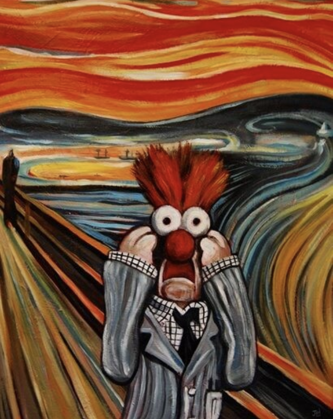 I was going to use an image of Edvard Munch's  The Scream , but then this beautiful creation popped up in the image search. #teambeaker