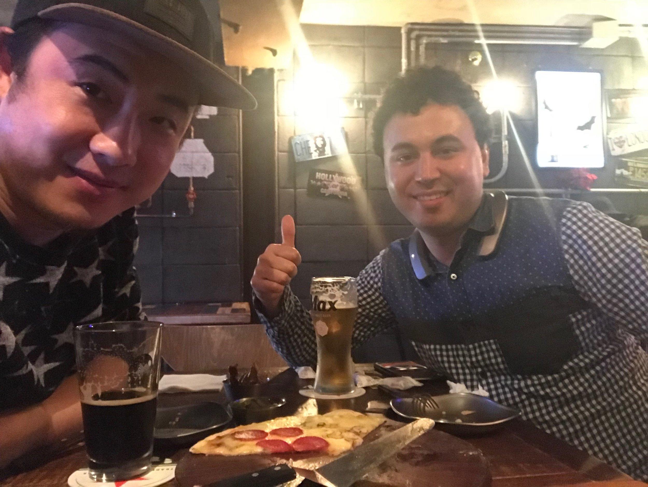 Beer with Liu Defu and Brian A. Crandall