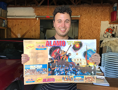 Brian A. Crandall with his Alamo Toys