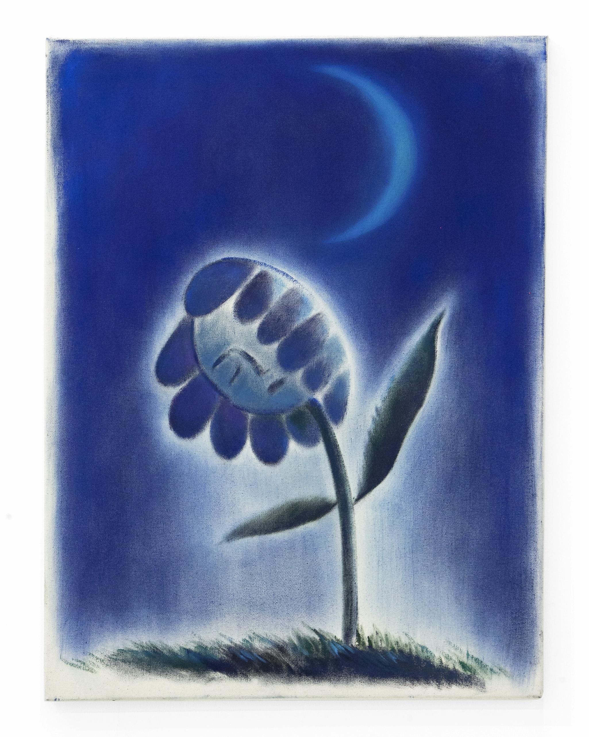 "Sarah Thibault -"" Sleeping (Under Moon) "". Oil on Canvas.24 x 18. 2018.info@part2gallery.com"