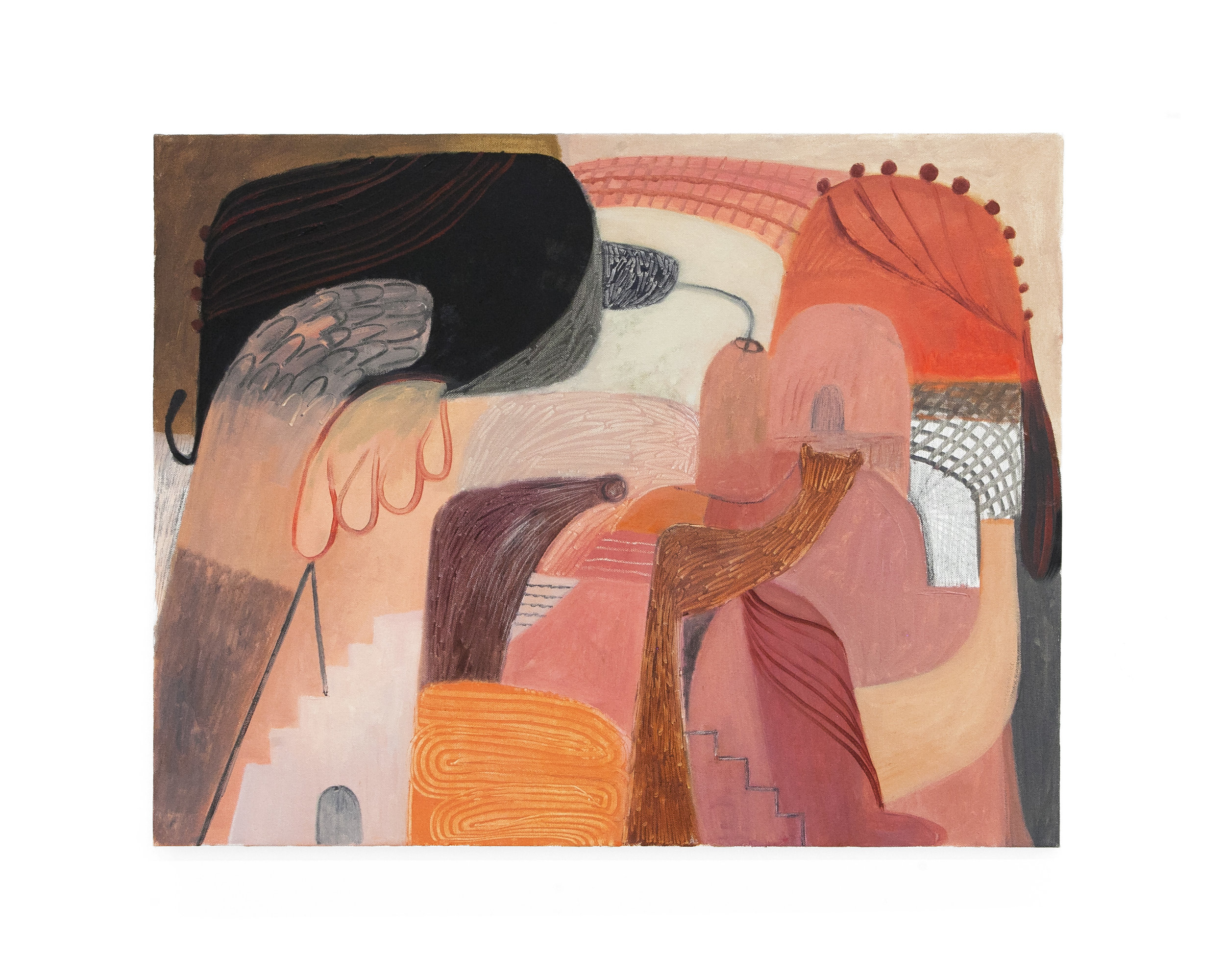 "Soumya Netrabile - ""Weightless Vague""  Oil on Canvas. 22 x 28 Inches. 2018."