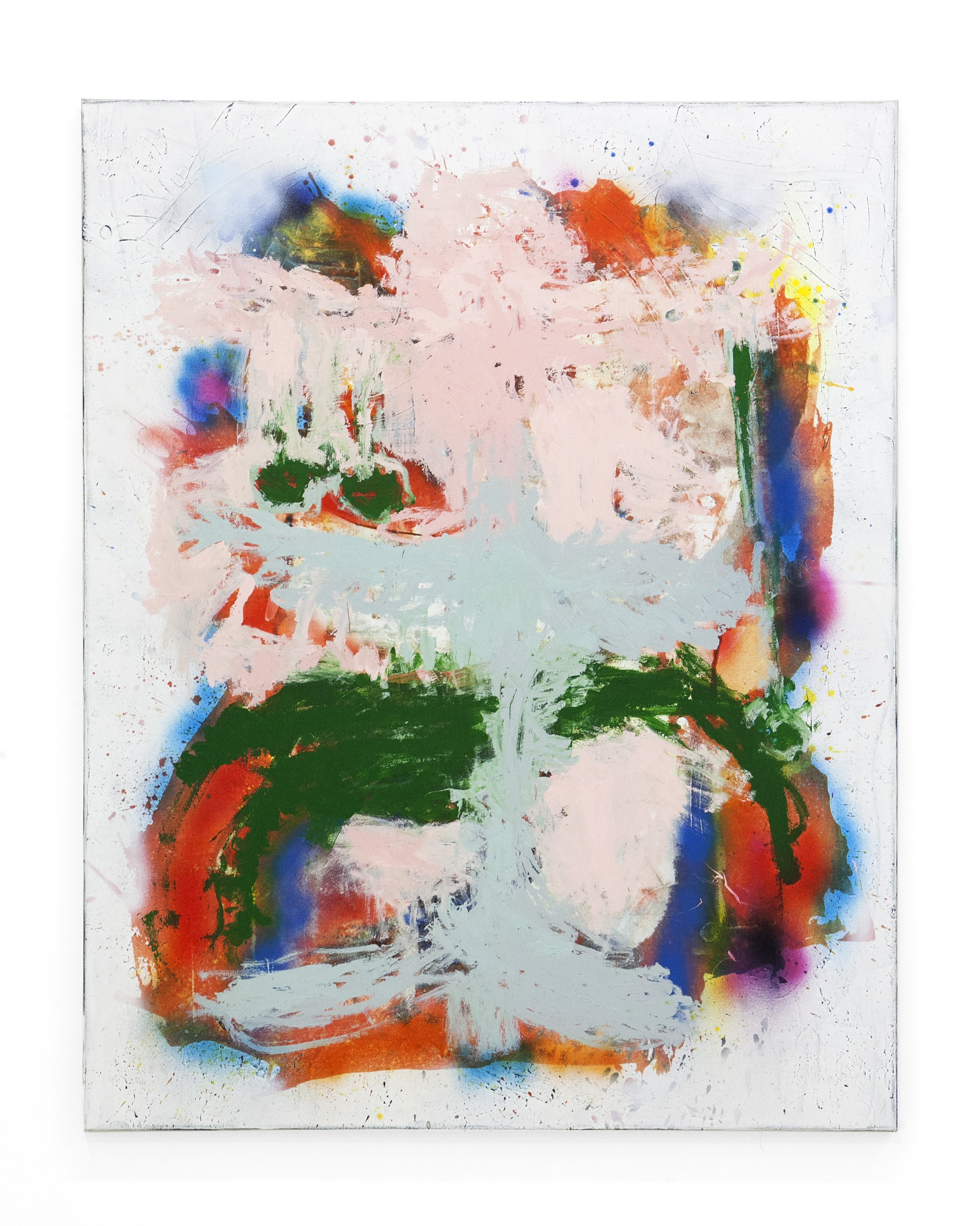 """Marco Pariani - """" This Is Green""""  Acrylic, Spray Paint on Canvas. 46 x 58 Inches. 2018."""