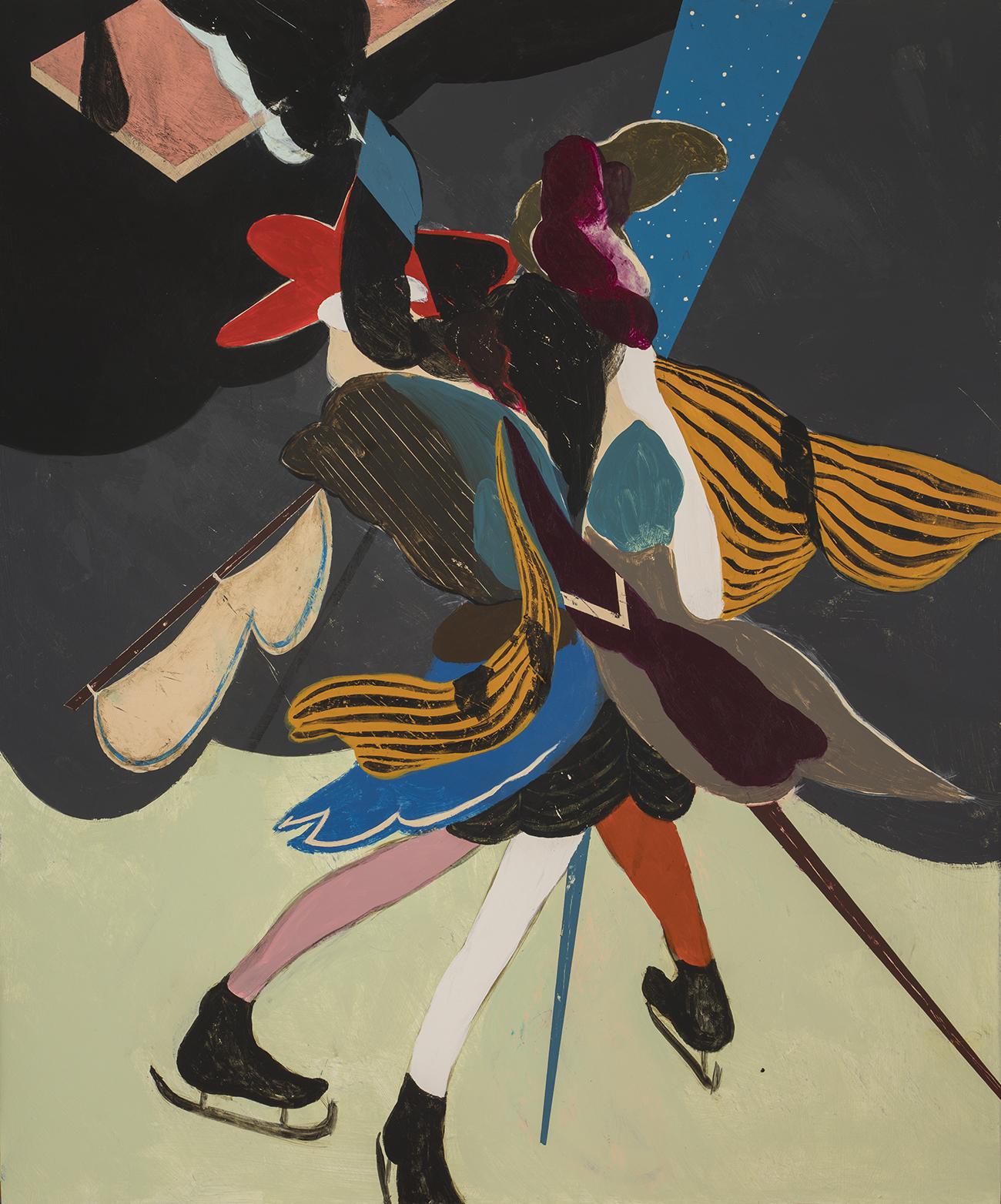 "Kenichi Hoshine  ""F. Dietl""  Acrylic on Wood Panel. 24 x 20 Inches. 2019."