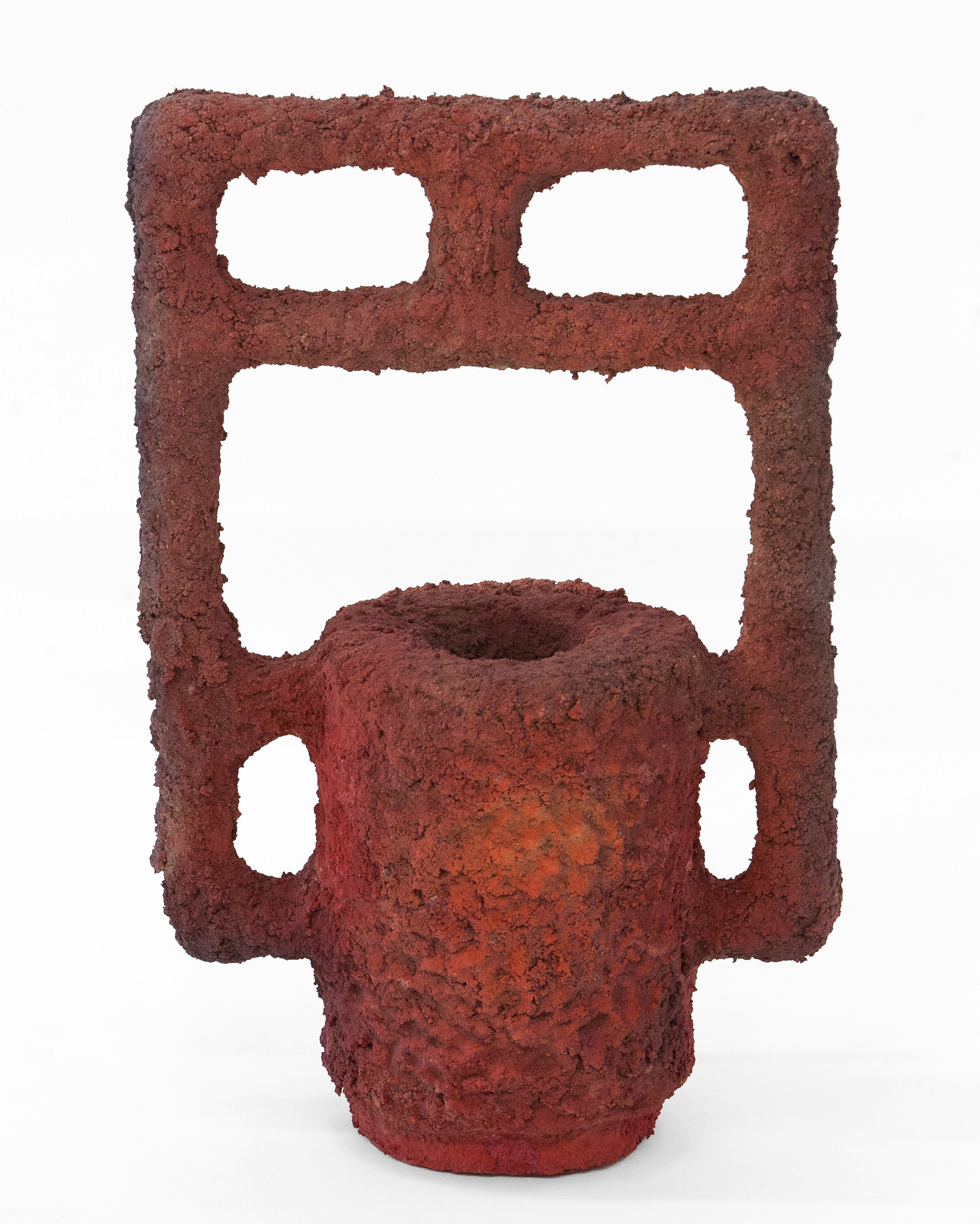 "Kyle Lypka & Tyler Cross  ""Heat Closet""  Ceramic, Glaze, Stain. 36 x 20 x 11 Inches. 2019."
