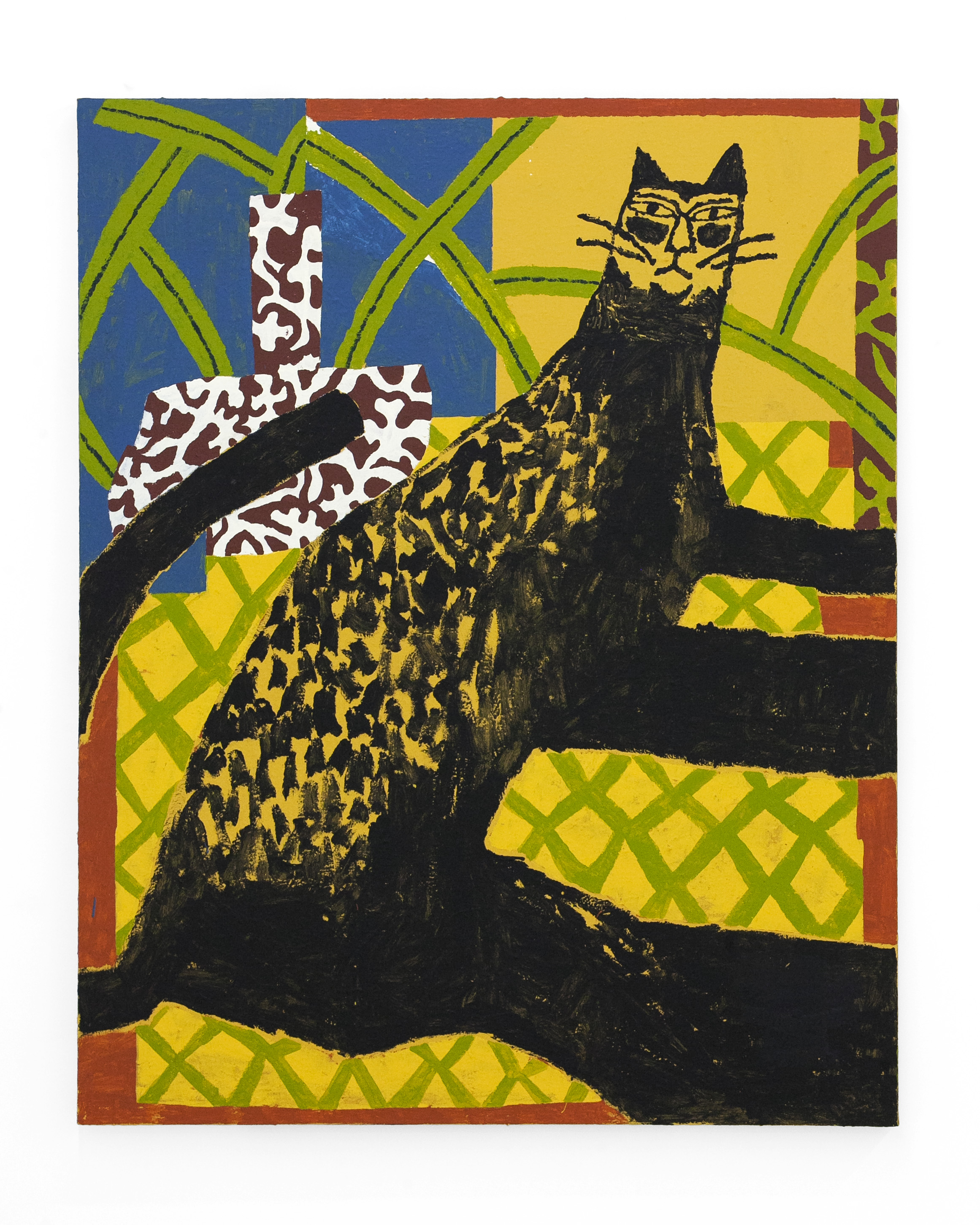 "Cannon Dill  ""Black Cat""  Acrylic on Canvas. 60 x 48 Inches. 2019."