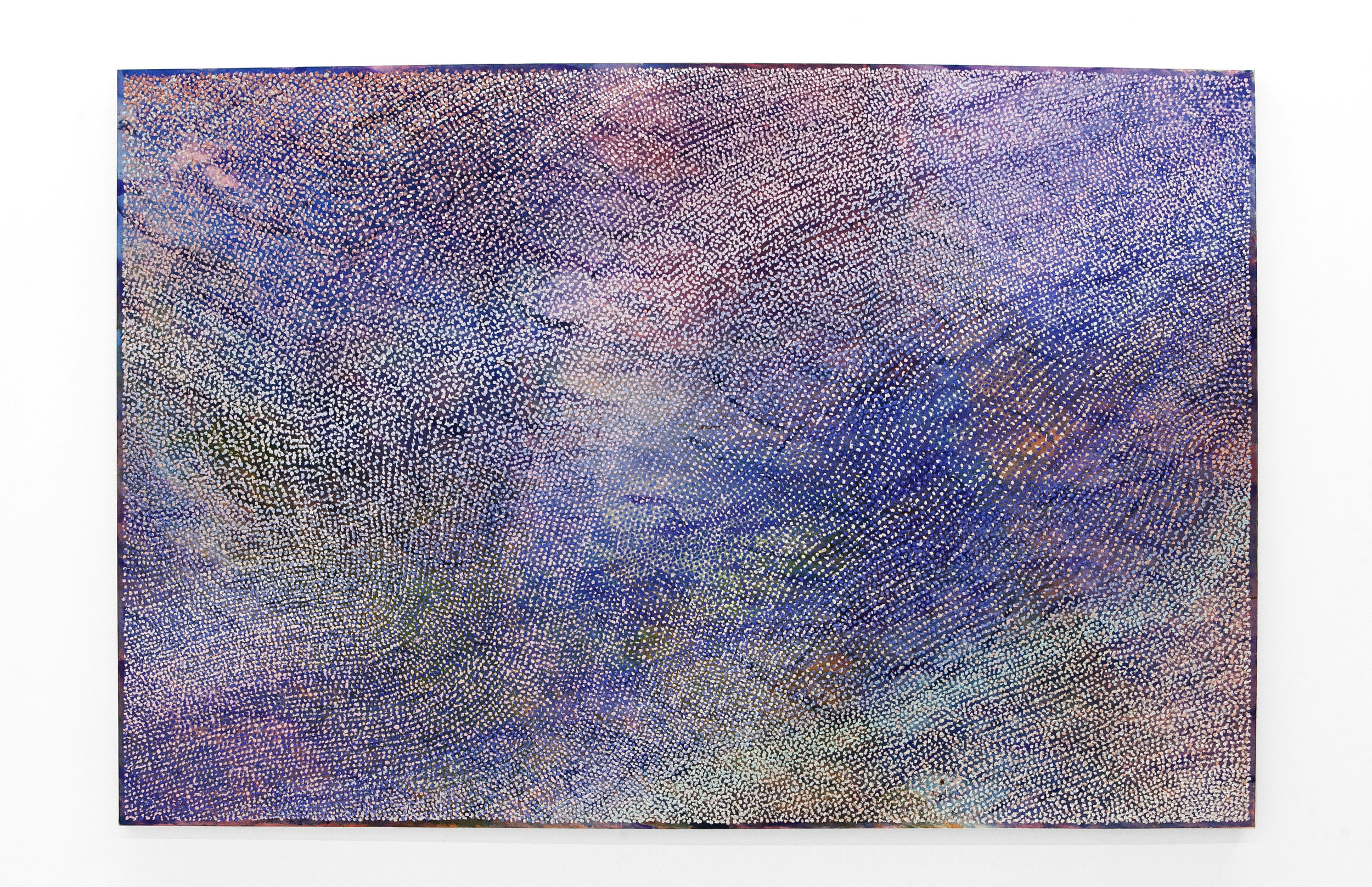 """Jean Nagai  """"Lilac""""  Acrylic and Pumice on Canvas. 48 x 72 Inches. 2019. info@part2gallery.com"""