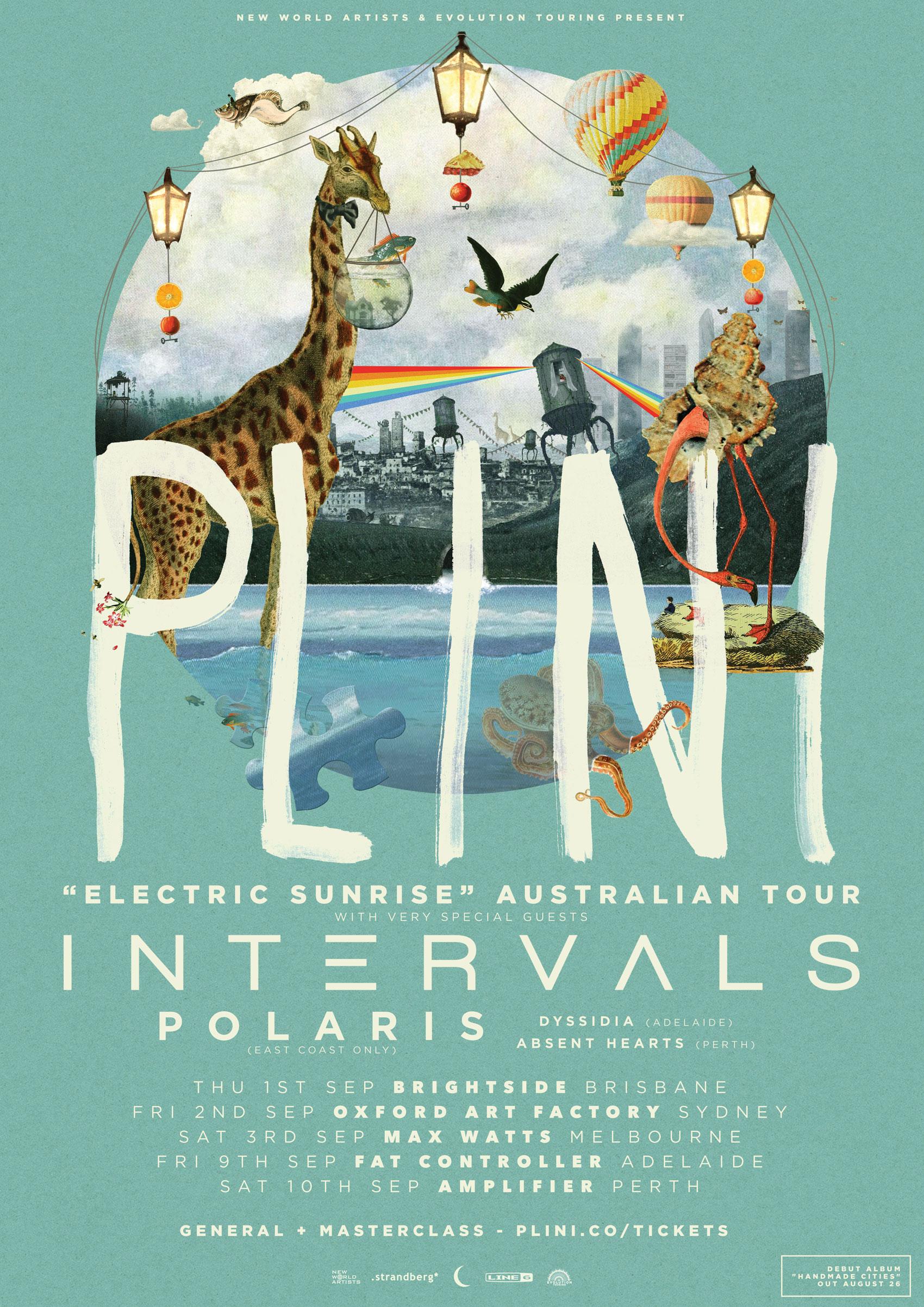 Plini (AUS) + Intervals (CAN) - Australian Tour