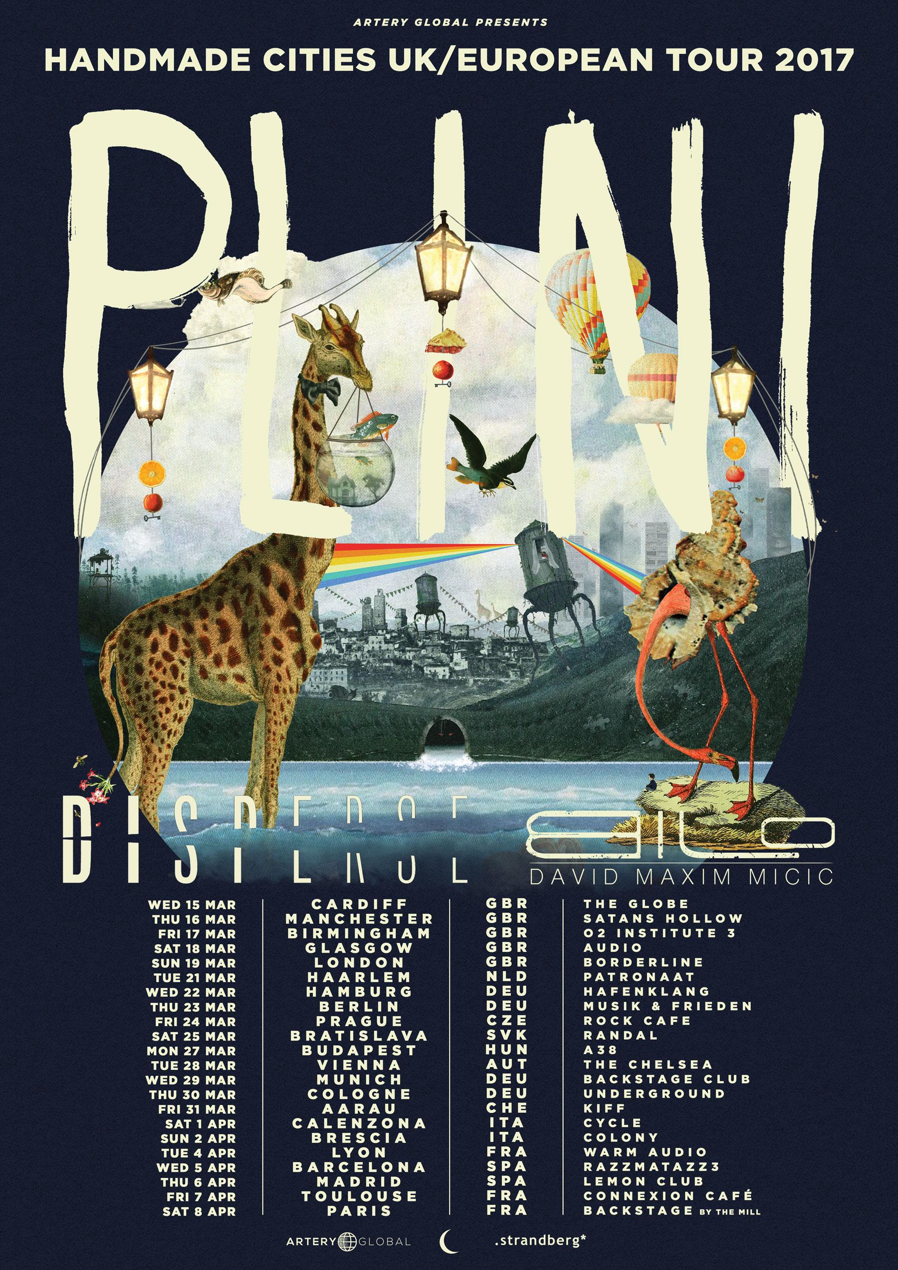 Plini (AUS) + Disperse (POL) + David Maxim Micic (SRB) - UK / Europe tour