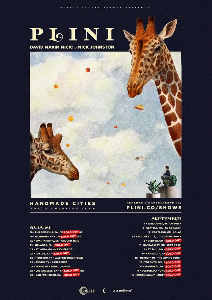 Plini (AUS) + David Maxim Micic (SRB) + Nick Johnston (CAN) - North american tour
