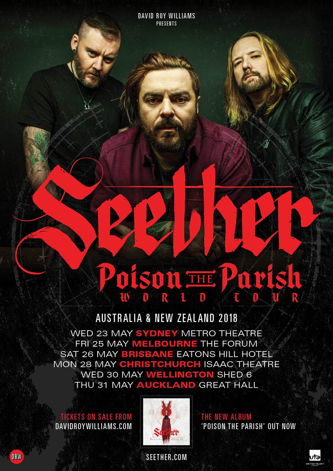 Seether (South Africa) - Australian Tour