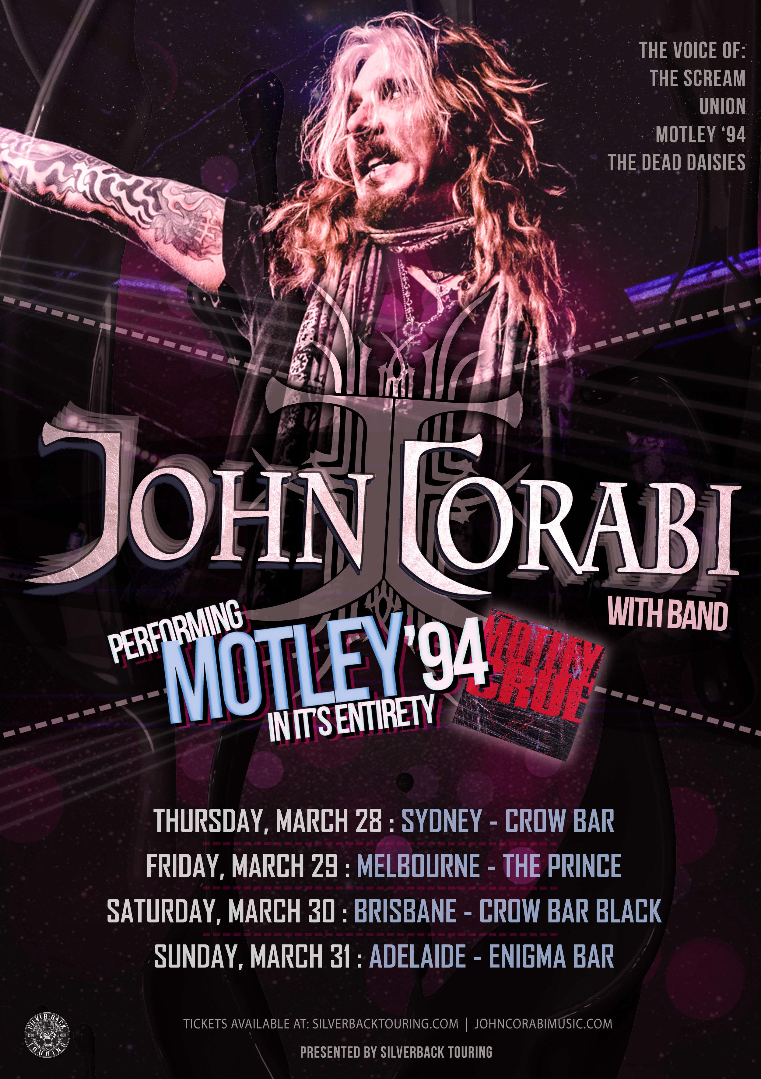 John Corabi - Motley 94 - Australian tour