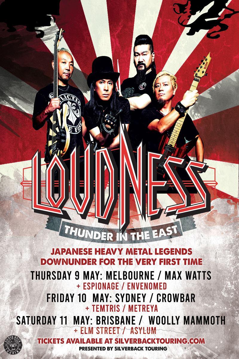 Loudness (Japan) - Australian tour