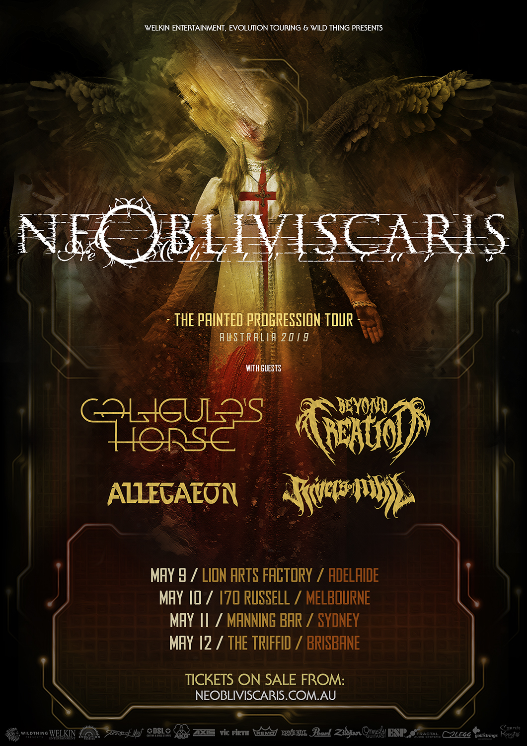 Ne Obliviscaris + Caligula's Horse + Beyond Creation + Allegaeon + Rivers of Nihil - Australian tour