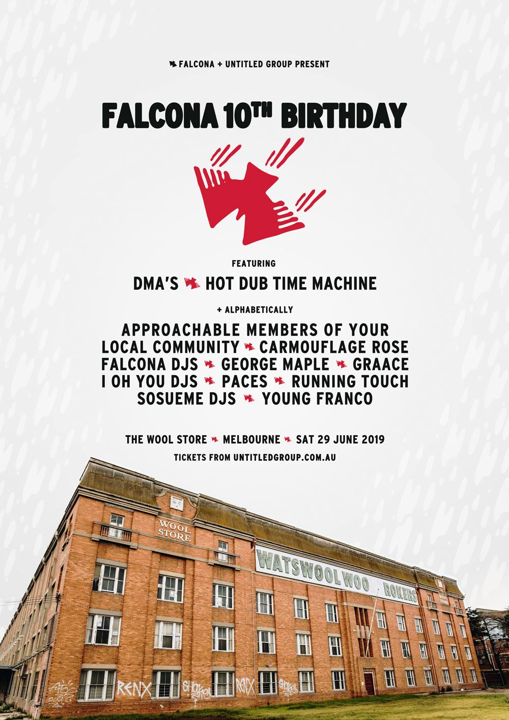 Falcona 10th Birthday Party - Live in melbourne