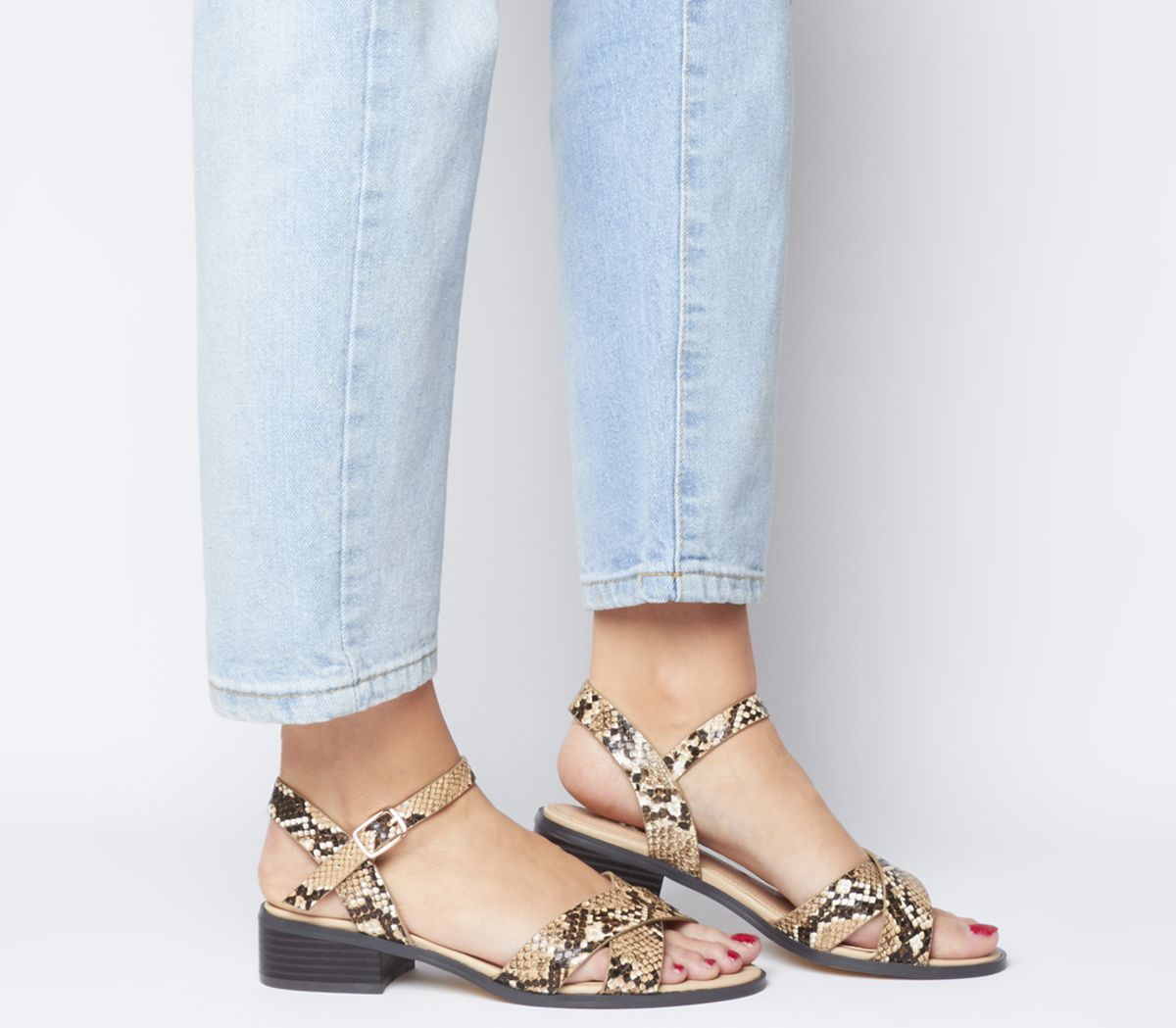 Office Measure Casual Mid Sandals Snake