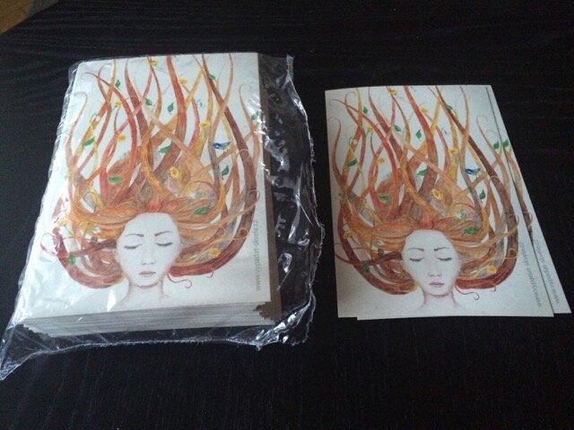 Один из немногих проектов, которые делать было в радость — открытки для покупателей.