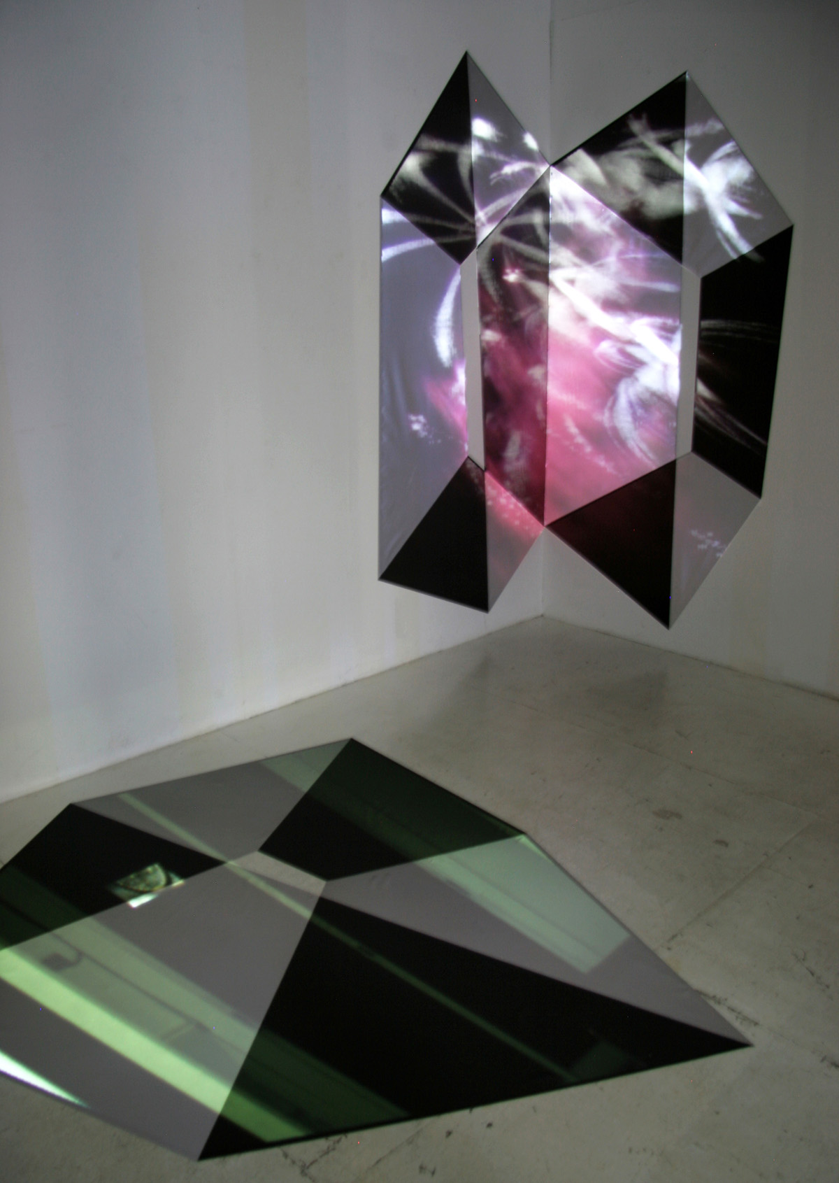 Fig.20 - 'Intangible Spaces' installation view Nathan Cohen Aisho Miura Arts Tokyo 2010: wall and floor installations with projections