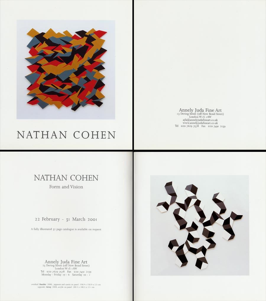 2001 Nathan Cohen – Form & Vision   Annely Juda Fine Art, London, GB