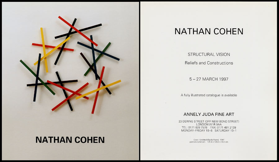 1997 Nathan Cohen – Structured Vision   Annely Juda Fine Art, London, GB