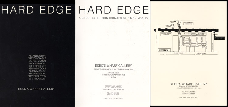 1996 Hard Edge   Reed's Wharf Gallery, London, GB