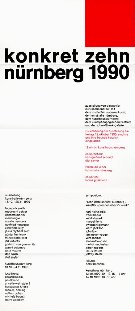 1990 Konkrete Zehn   Nürnberg Kunsthaus, Nürnberg, D